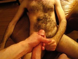 Double Cumshot With Big Thick Dick Hairy Cub