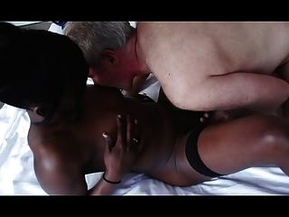 Lucky Old Man Having Sex With Goddess Ebony
