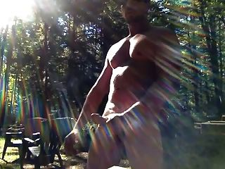 Str8 Daddy Jerk In The Forest