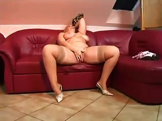 Sweet Chubby Blonde Masturbating And Fucking