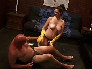 Pleasuring Rod Through His Manhole