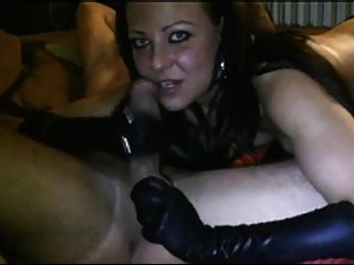 Horny Wife Giving Deep Throat Blowjob On Webcam Wet Dick