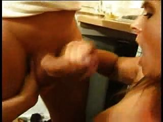 Hot German Milf In Stockings Has A Threesome In The Kitchen