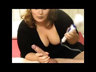 Bbw  Using A Vibrator To Make A Cock Erupt