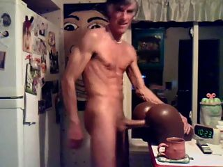 Str8 Daddy Banging The Pocket Pussy In The Kitchen