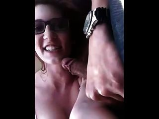 Amateur Passing The Time By Sucking The Drivers Cock