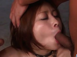 Milf Ruri Haruka Craves For A Nasty Threesome Fuck