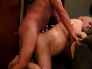 Old Daddy Gets Dick In Ass