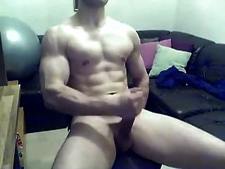 Hot Uncut Cock College Jock Jerking Off