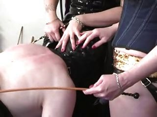 Dominant Punk Girls Strapon Sissy