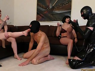 Femdom Bisex Fetish Pansy Party With Two Mistresses