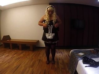 Gorgeous Thick Blonde Sissy Maid