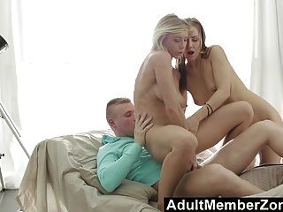 Adultmemberzone - Dreamy Threesome With Beautiful Babes