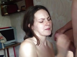 Blonde Girl Gets Her First Facial