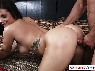 Sexy Brunette Keisha Grey Take A Large Dick