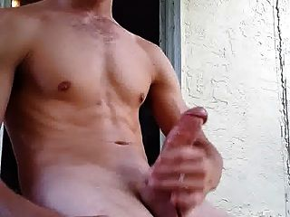 Str8 Guy Jacking Off Having A Smoke Outside