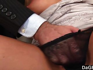 Slutty Blonde Gets Fucked And Jizzed On