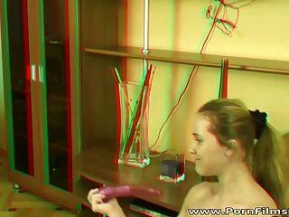 Porn Film 3d - Explicit Dildo Gymnastics
