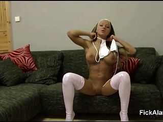 Step-sister Make German Step-bro Horny And Helps With Bj