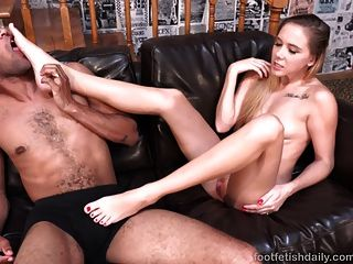 Hollie Mack Gives Black Cock A Footjob And Gets Fucked