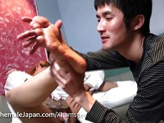 Ladyboy Pornstar Megumi In The Middle Of A Hardcore Sandwich