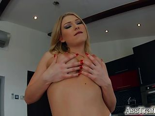 Ass Traffic Sexy Blonde Enjoys A Dick In Her Tight Ass