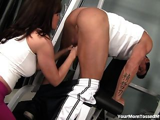 Horny Milf Seduces Her Big Dicked Personal Trainer!