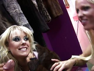 Naughty Cindy Behr And Her Pretty Friend Syren Sexton Seduce Muscular Man