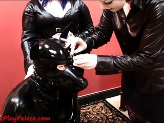 Transforming Our Rubber Puppy Slut!