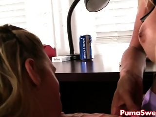 Erotic Mechanic Puma Swede Fucks Two Hot Lesbian Customers!