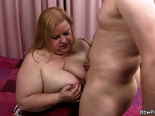 Busty Plumper Is Mouth And Pussy Fucked