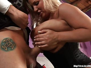 Blonde With Giant Tits Gets Plowed!