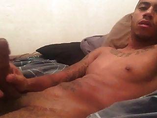Str8 Black Men Jerking Off His Nice Cock
