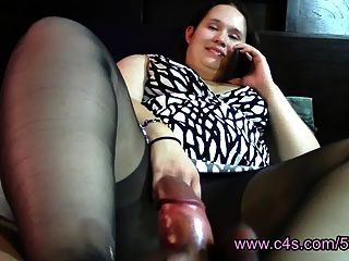 Cheating Wife Pantyhose Footjob & Handjob