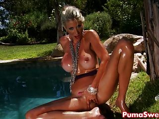 Sexy Blonde European Babe Puma Swede Has A New Favorite Toy!