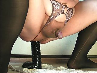 Prostate Milking With Black Big Dildo Feb-07-2015