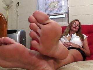 Mature nylon feet tickling ready