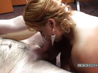 Busty Milf Angel Lynn Takes All The Cum In Her Mouth