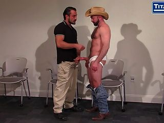 Bearded Cowbow Daddy Gets His Fat Cock Sucked