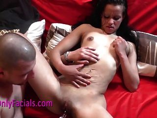 Gypsy Teen Fucks A Dildo And Gets Facial After Blowjob