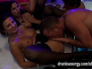 Wet Harlots Suck And Fuck Cocks At Party