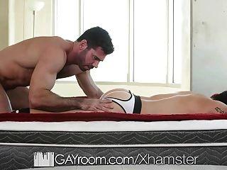 Gayroom - Billy Santoro Slides Into Aspen Solomons Straight
