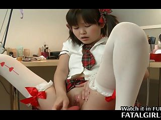 Japanese Cute Girl Plays With Pussy