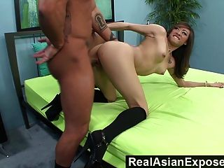 Realasianexposed - Ariel Rose Gets Bent Over And Plowed