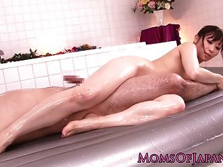Japanese Milf Bodysliding In Bathroom