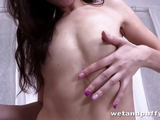 Classy Brunette Girl Teasing Her Ass And Pussy