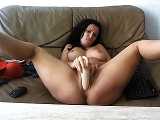 Sexy, Busty Milf Teasing On Webcam