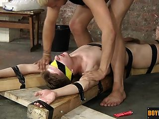 Sweet Young Zac Is Blindfolded And Tied