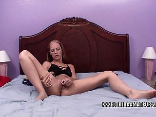 Blonde Housewife Penelope Sky Is Playing With Her Toys