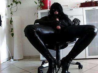 Crossdresser Leather Gloves